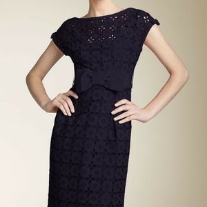 Nanette Lepore Blue Eyelet Bow Dress